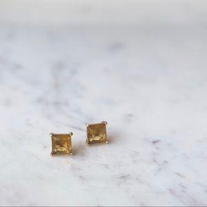 NWOT Kate Spade Large Gold Square Stud Earrings